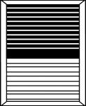 Mixte panneau rainuré horizontale + fausses persiennes COULISSANTS