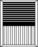 Mixte panneau rainuré verticale + fausses persiennes COULISSANT