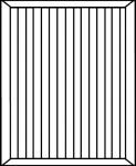Panneau rainuré verticale COULISSANT