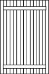 Panneau rainuré verticale + barres U DE FINITION